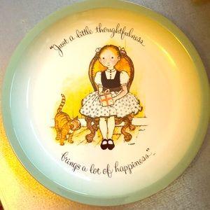 Vintage 70's Holly Hobbie Plate